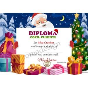 Diplomă Crăciun 48 (copil cuminte)