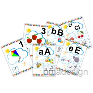 *Set 49 Planșe Litere-Grupuri + Numere (model 1)