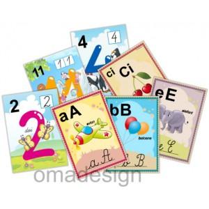 *Set 51 Planșe Litere-Grupuri + Numere (model 3)