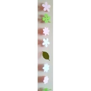 Ghirlandă de primăvară (floricele + frunze)