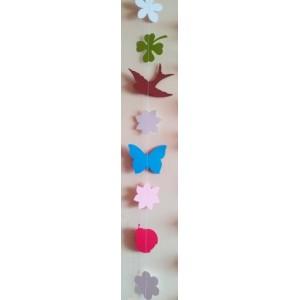 Ghirlandă de primăvară (floricele + fluturi)