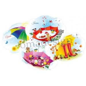 Set 4 Umbrele Anotimpuri