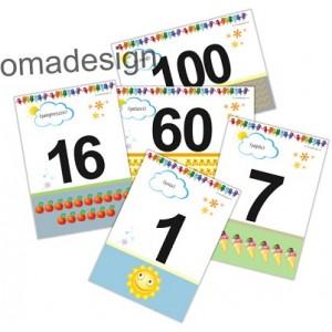 Set 28 Planșe Numere 1-100 (1)