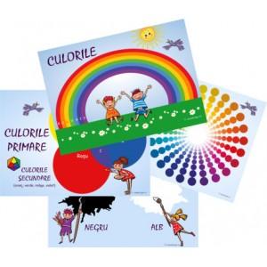 Set 4 Planșe Culorile