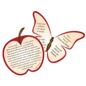 *Set 2 Postere Măr - Fluture