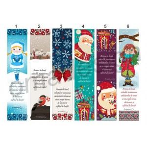 *Semn de carte Crăciun cu motive tradiționale 1