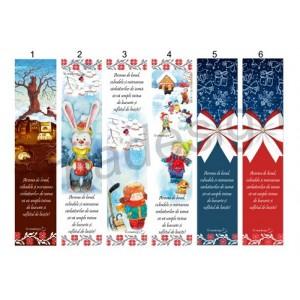 *Semn de carte Crăciun cu motive tradiționale 2